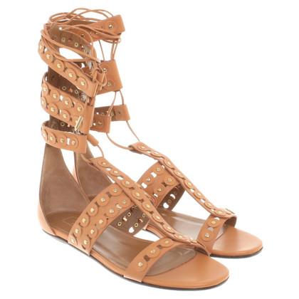 Aquazzura Cognac-colored sandals