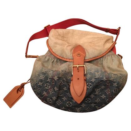 Louis Vuitton Schultertasche aus Denim