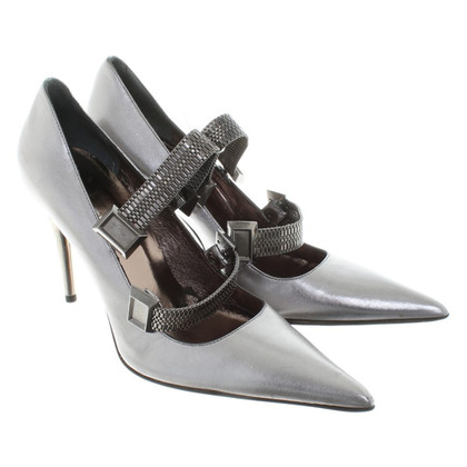 Mugler Silver colored pumps