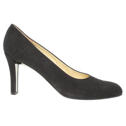 Jourdan Zwarte Suede pumps
