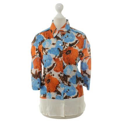 Dries van Noten Zijden blouse met print