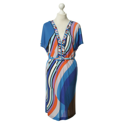 Emilio Pucci Kleid mit kurzen Ärmeln