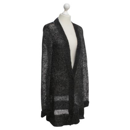 Dorothee Schumacher Gebreid vest in zwart / Zilver