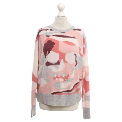 Skull Cashmere Pull avec motif imprimé