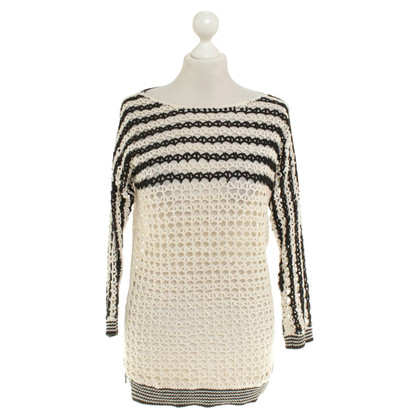 Sandro Knit sweater in black / cream