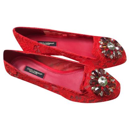 Dolce & Gabbana DOLCE GABBANA LACE RAINBOW FLAT