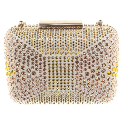 Pinko clutch in cream white