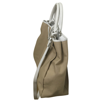Jil Sander Leather bag in beige/white