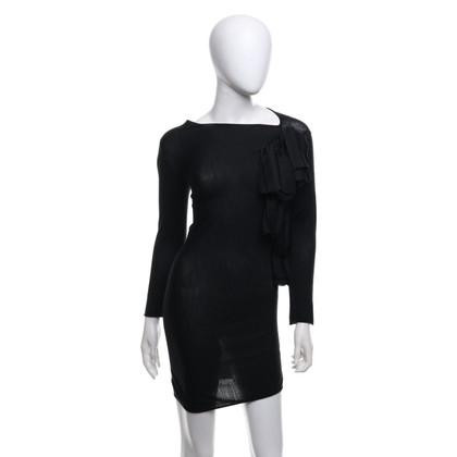 Giambattista Valli Gebreide jurk in zwart