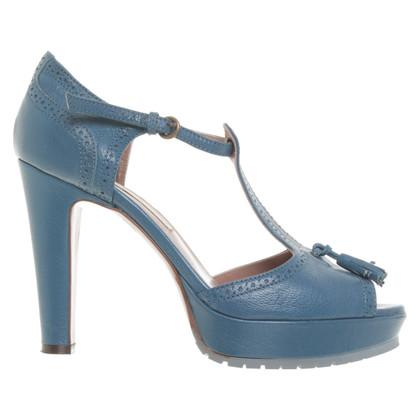 L'autre Chose Petrol-colored sandals