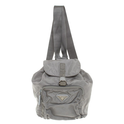 Prada Nylon Backpack in Gray