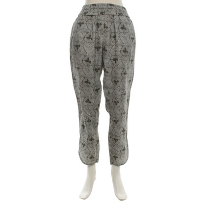 Odeeh Silk trousers with pattern