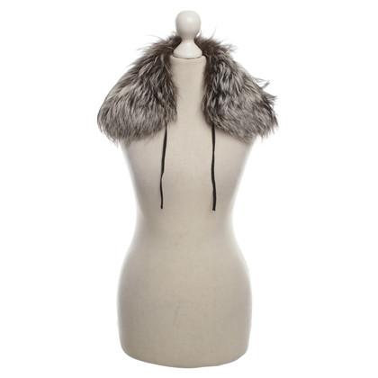 Prada Silver Fox Fur collar