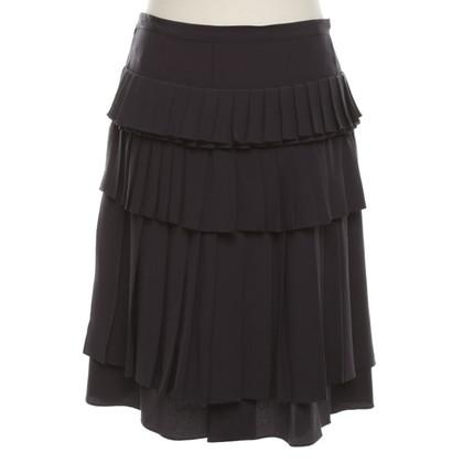 Marni Silk skirt in dark blue