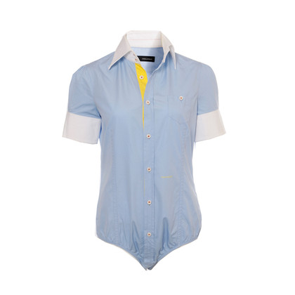 Dsquared2 Cotton blouse in pale blue