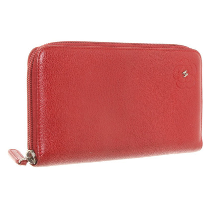 Chanel Leather wallet in red