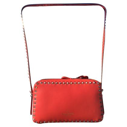 Valentino VALENTINO ROCKSTUD CAMERA RED BAG