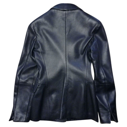 Armani Black leather jacket