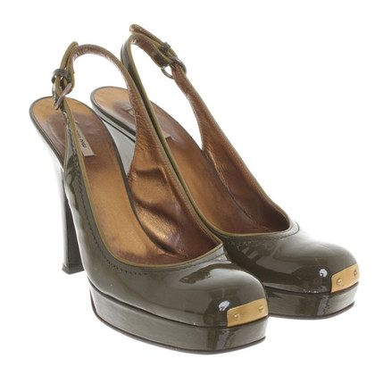 Miu Miu pumps in olive