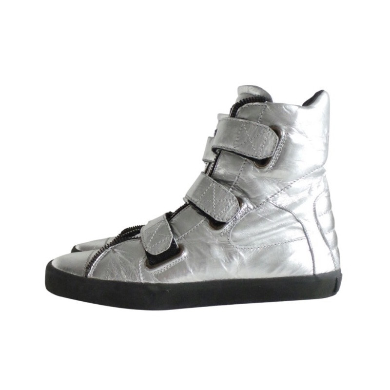 Karl Lagerfeld leather high-top trainer