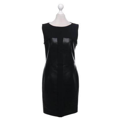 Saint Laurent Wollen / lederen jurk