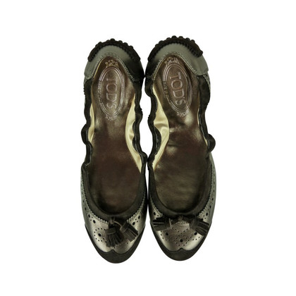 Tod's Ballerinas in bronze