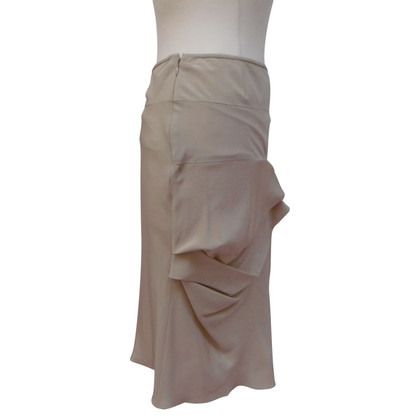 Christian Dior Silk skirt with gathering