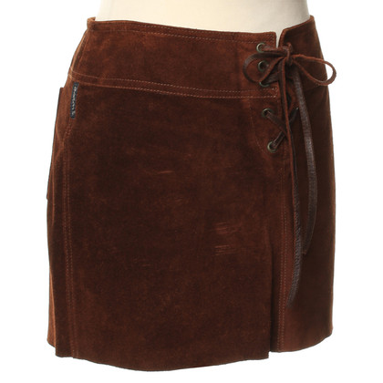 Armani Jeans Mini skirt in brown suede