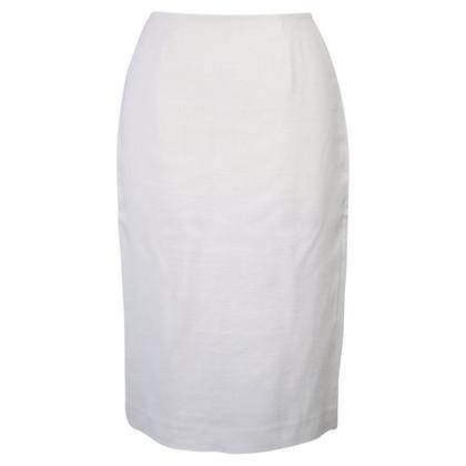 Hobbs Linen skirt in white