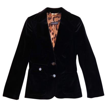 Dolce & Gabbana zwart fluwelen pak