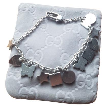 Gucci Silver bracelet with pendants