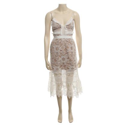 Self-Portrait Lace dress in white