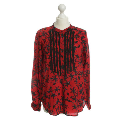 Zadig & Voltaire Silk blouse in red/black