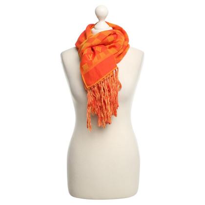 Louis Vuitton Sciarpa con modello mix a Orange