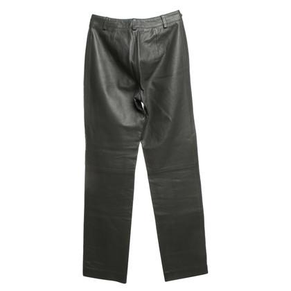 Patrizia Pepe Pantaloni di pelle in grigio