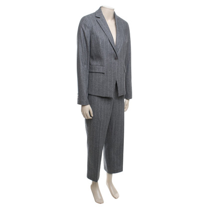 St. Emile Suit with pinstripe pattern in grey / white