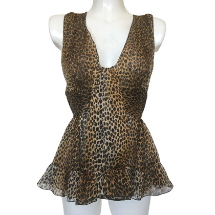 D&G top with leopard pattern