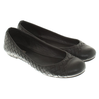Bottega Veneta Ballerinas in Schwarz