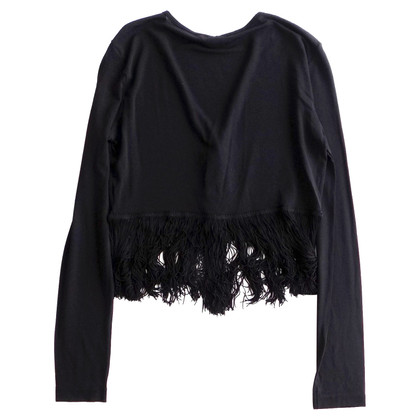 Moschino Fringed lightweight cardigan