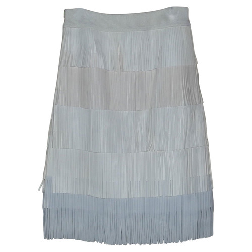 9ea936c8d6 Sonia Rykiel Skirt Leather in Cream - Second Hand Sonia Rykiel Skirt ...
