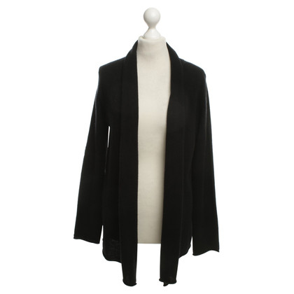 Velvet Cashmere cardigan in black
