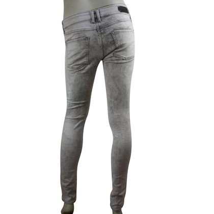 Sandro bleached grey skinny jeans