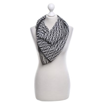 Escada Silk scarf in black and white