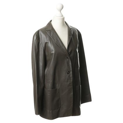 Jil Sander giacca di pelle