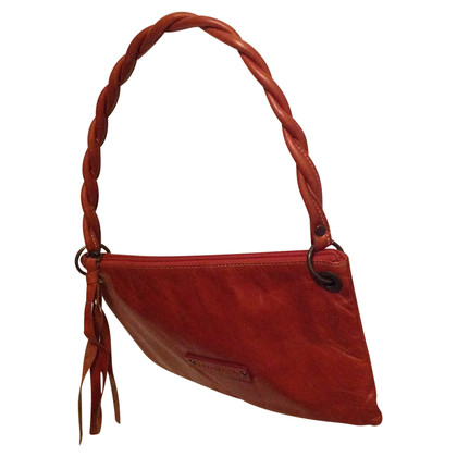 Coccinelle Terracotta leather shoulder bag
