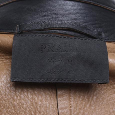 ... Prada Lederjacke in Schwarz Schwarz Niedrig Versandkosten Für Verkauf  Top-Qualität Verkauf Online Beste Authentisch d81dbc6124