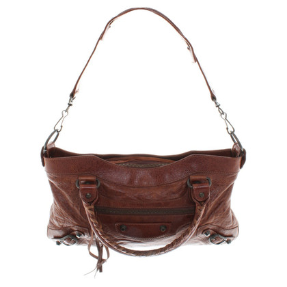 Balenciaga Brown leather handbag