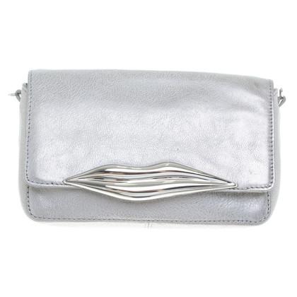 Diane von Furstenberg Silver colored shoulder bag