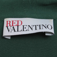 Red Valentino Seidenbluse in Grün