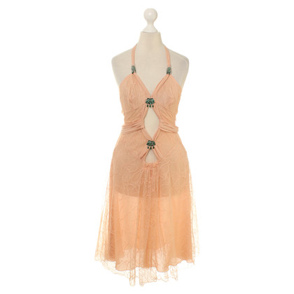 La Perla Dress with lace & jewelry stones